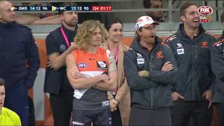 Last two minutes: Giants v Eagles - AFL