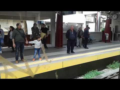 Athens metro line 1 from Omonoia to Ano Patisia/Омония-Ано Патисья… видео