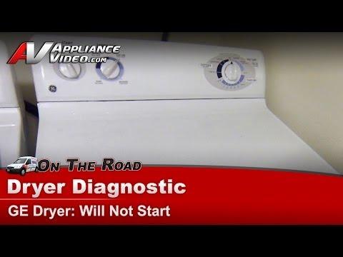 GE Dryer Diagnostic – No Start – DJXR433EG6WW