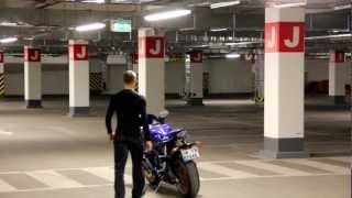 5. YAMAHA YZF-R6 Parking Garage Exhaust Sound