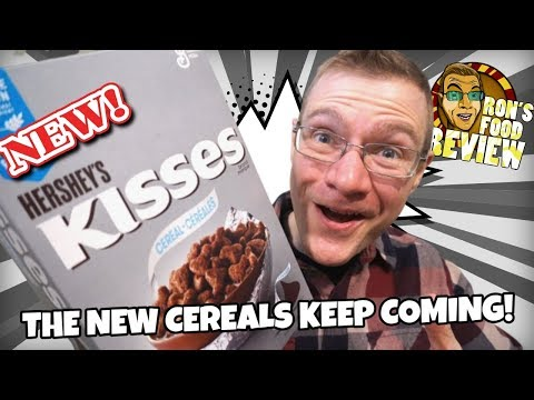 NEW!! HERSHEY'S KISSES CEREAL!! TASTE AND REVIEW!