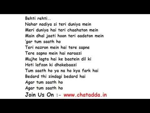 Video Agar Tum Saath Ho Full Song Lyrics – Tamasha   Alka Yagnik, Arijit Singh (chatadda.in - chatroom) download in MP3, 3GP, MP4, WEBM, AVI, FLV January 2017