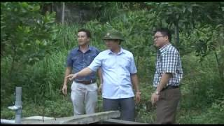 Đồng chí Chủ tịch UBND thành phố chỉ đạo khắc phục sự cố sạt lở đất tại khu 7, phường Vàng Danh