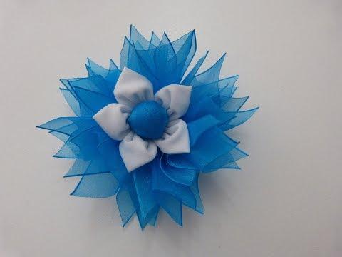 Moño flores para el cabello para cualquier ocasión navidad, halloween  paso a paso