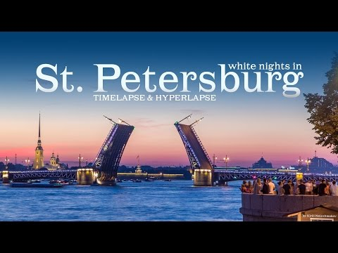 White nights in Saint Petersburg. Timelapse & Hyperlapse