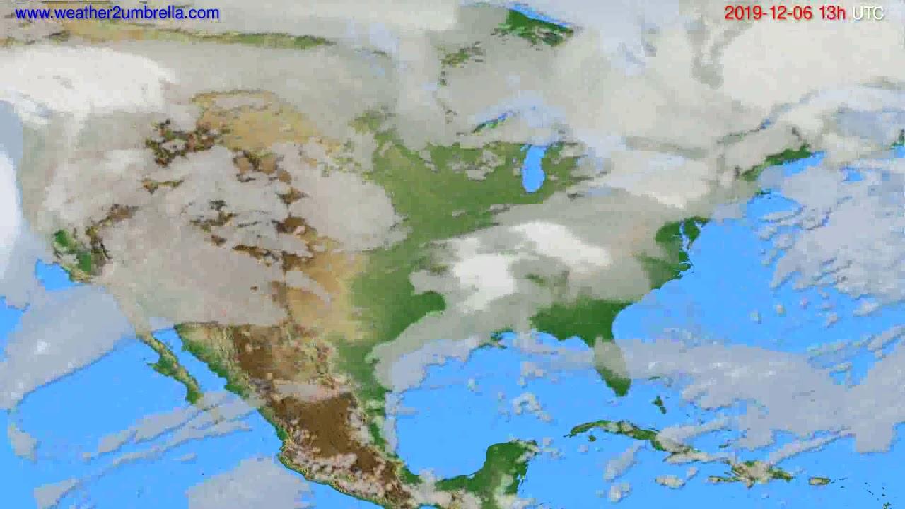 Cloud forecast USA & Canada // modelrun: 00h UTC 2019-12-05