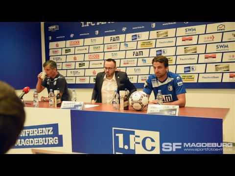 Video: Pressekonferenz vor dem Spiel - 1. FC Magdeburg gegen FC Würzburger Kickers