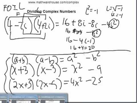 Divide Complex Numbers How To Divide Complex Numbers Using The