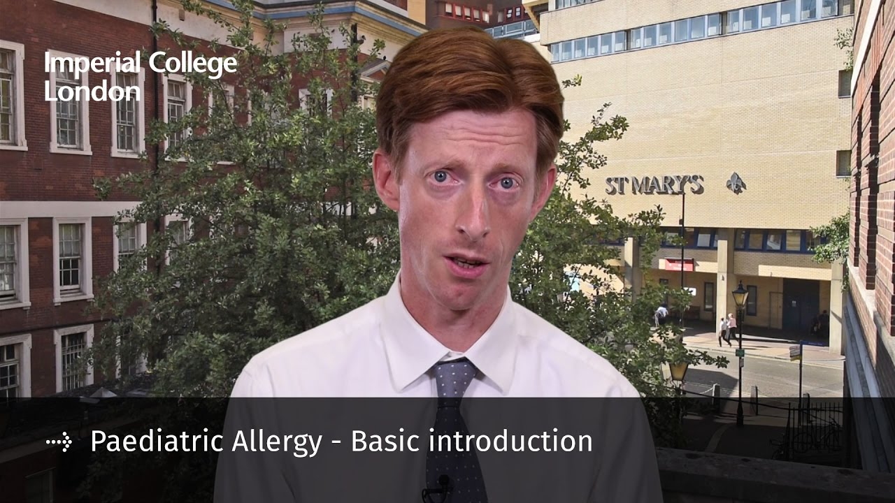 Dr Robert Boyle discusses the Paediatric Allergy - Basic introduction course