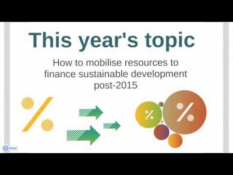 How to mobilise resources to finance sustainable development