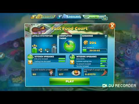 Cooking Fever Full Places Unlock And Upgrades Full Video