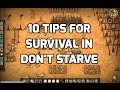 10 Tips for Survival in Don't Starve
