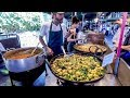 foto Vegetarian Indian Food Seen and Tasted in Borough Market. London Street Food