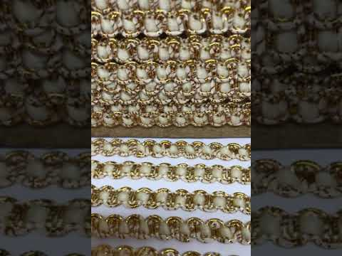 Passamanaria Galão Branco Dourado 08mm 5M