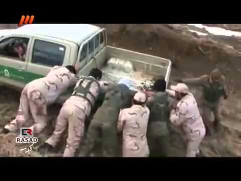 Iran Border Police - War on; smuglers of drugs, guns and other materials to Iran.