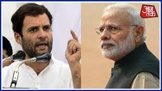 Congress vice-president Rahul Gandhi, while attending a meeting organized by JD(U) leader Sharad Yadav's Sajha Virasat...