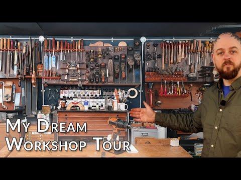 My Dream Guitar Building Home Workshop Tour