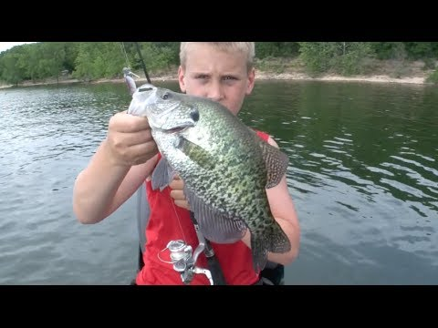 Post Spawn Crappie fishing technique for lakes.
