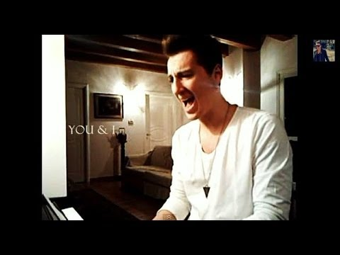 One Direction - You And I (cover by Giuliano Sassi) with Lyrics on screen
