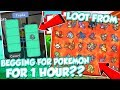 foto LOOT FROM BEGGING 1 HOUR FOR POKEMON IN POKEMON BRICK BRONZE *male version* / DefildPlays Borwap