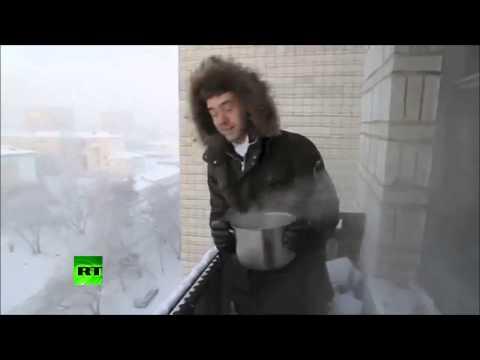 -41 gradi in russia! cosa succede gettando acqua bollente dal balcone?