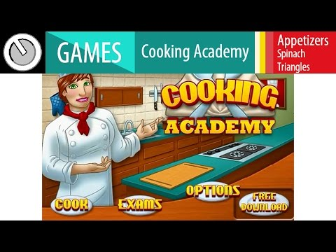 [GAMEPLAY] Cooking Academy _ Appetizers: Spinach Triangles(Online)