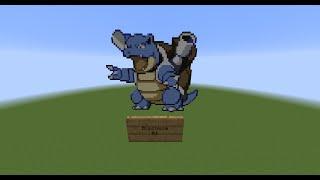 Minecraft Pixel Art Time-Lapse #01 Blastoise (Pokemon)