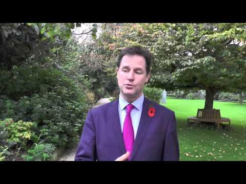 Le vice-Premier ministre britannique Nick Clegg à Paris