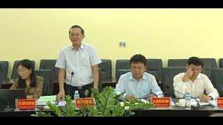 Đoàn công tác của Bộ Chính trị làm việc với Thành ủy Uông Bí