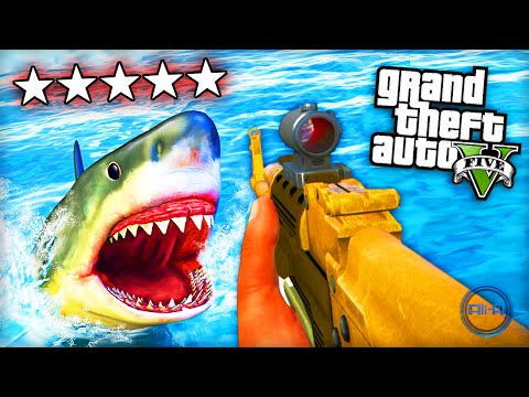 "GTA 5 Funny Moments – ""SHARK ATTACK!"" – (Grand Theft Auto V PS4 Gameplay)"
