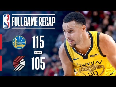 Video: Full Game Recap: Warriors vs Trail Blazers | Steph & Klay Lead Warriors In Portland