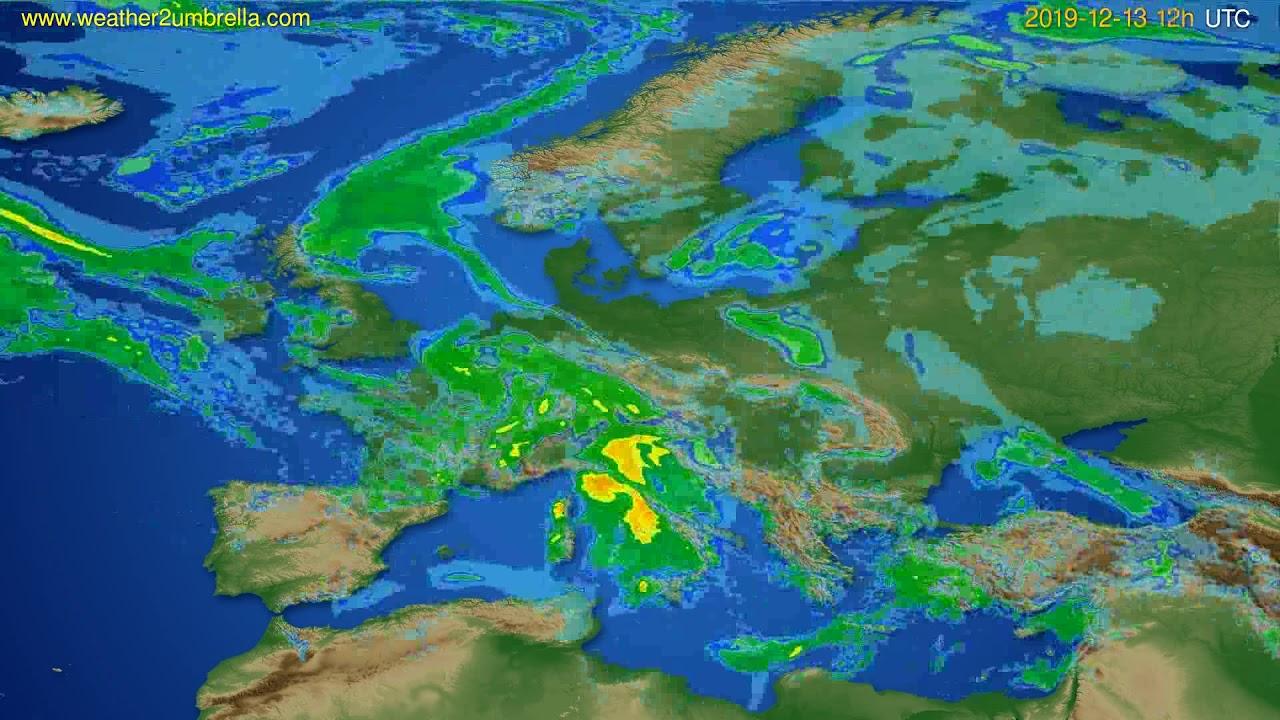 Radar forecast Europe // modelrun: 00h UTC 2019-12-13