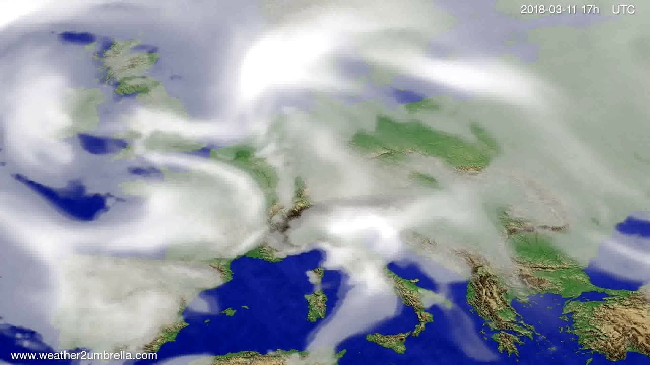 Cloud forecast Europe 2018-03-09
