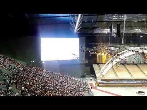 philippine arena - Sharing you the first assembly inside the enormous Philippine Arena at around 7am, July 21, 2014. Started with a theme song-
