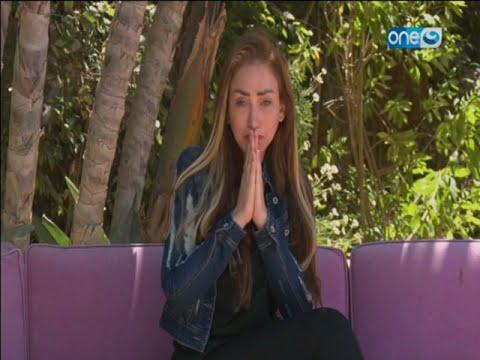 ريهام سعيد تبكي وتعتذر للجمهور في أول ظهور على الشاشة بعد غياب 6 أشهر