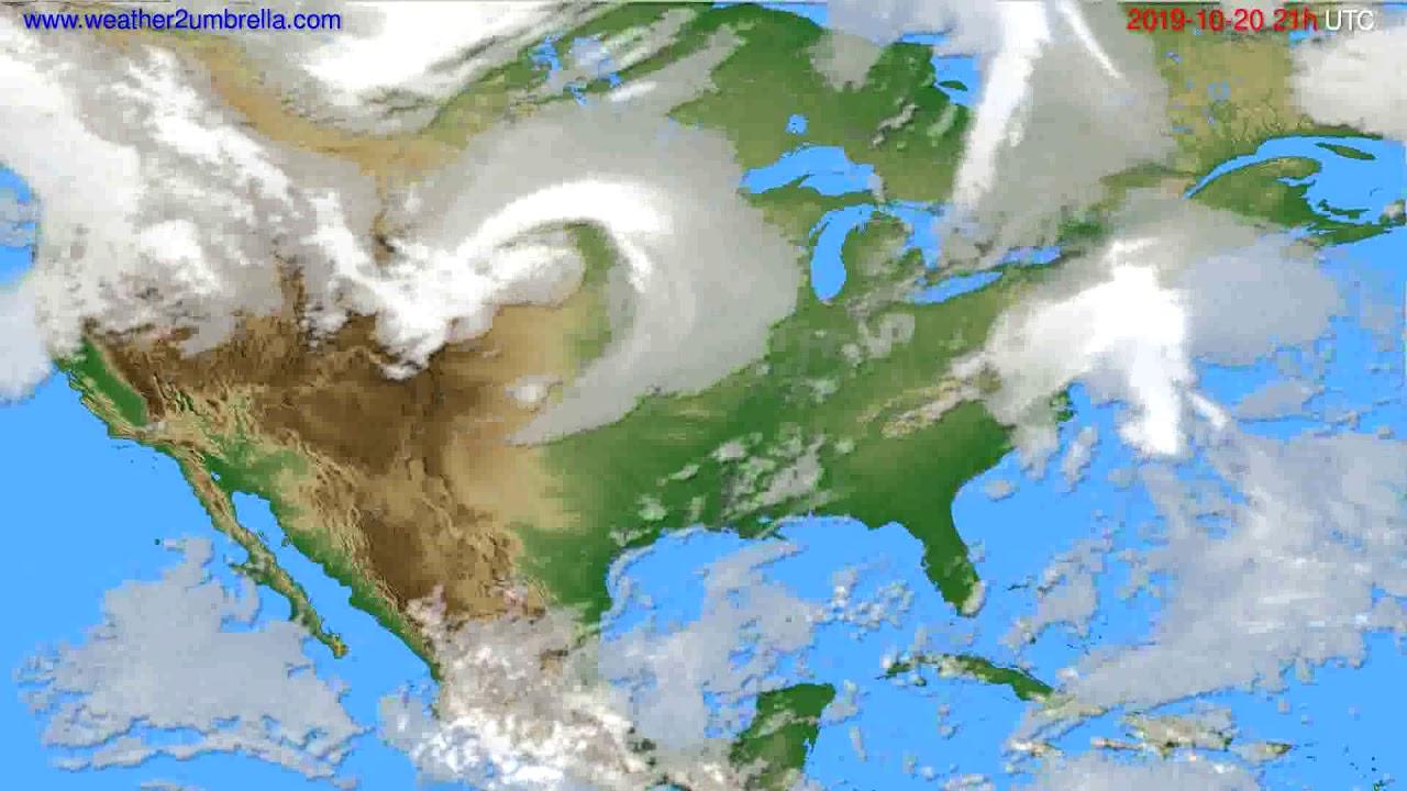 Cloud forecast USA & Canada // modelrun: 00h UTC 2019-10-19