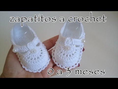 Modelos de uñas - Zapatitos a crochet para bebe - Modelo Daniela - 0 - 3 meses