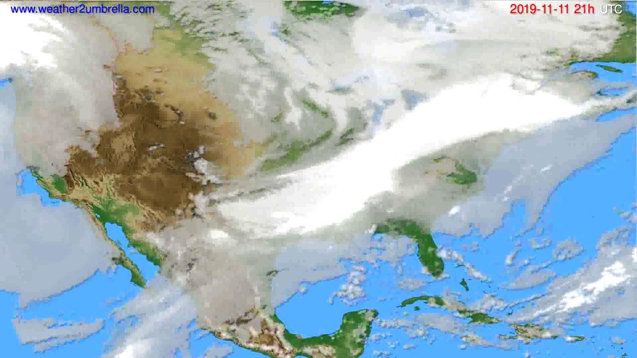Cloud forecast USA & Canada // modelrun: 00h UTC 2019-11-10