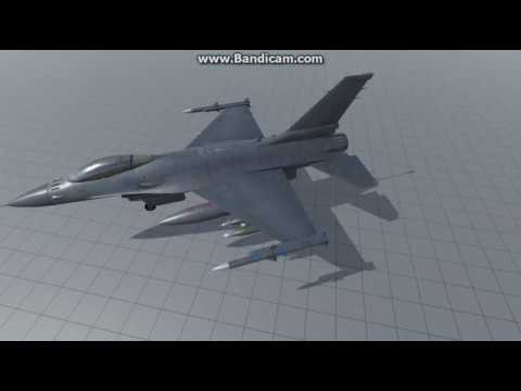 This 3d model of the F-16 Fighting...