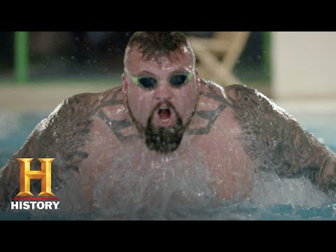 The Strongest Man in History: Swimming Challenge   Exclusive   History