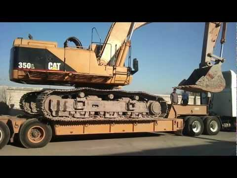 EXCAVADORA CAT - uploading caterpillar 350 heavy machine big cat.