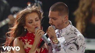 """""""Desde Esa Noche"""" Thalía feat. Maluma (Premio Lo Nuestro 2016) """"Desde Esa Noche"""" available on iTunes here:..."""