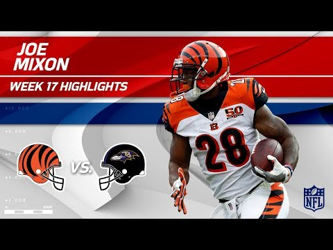 Video: Joe Mixon Highlights | Bengals vs. Ravens | Wk 17 Player Highlights