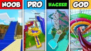 NOOB vs PRO vs HACKER vs GOD : WATER SLIDE CHALLENGE in Minecraft! (Animation)
