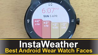 InstaWeather is one of the best android wear apps for keeping track of the weather in your area. You can get detail about the wind speed, precipitation, temperature, and more. Download: https://play.google.com/store/apps/details?id=mobi.byss.instaweather.watchface
