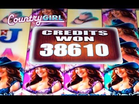*SUPER BIG WIN!* – Country Girl – Slot Machine Bonus (WMS)