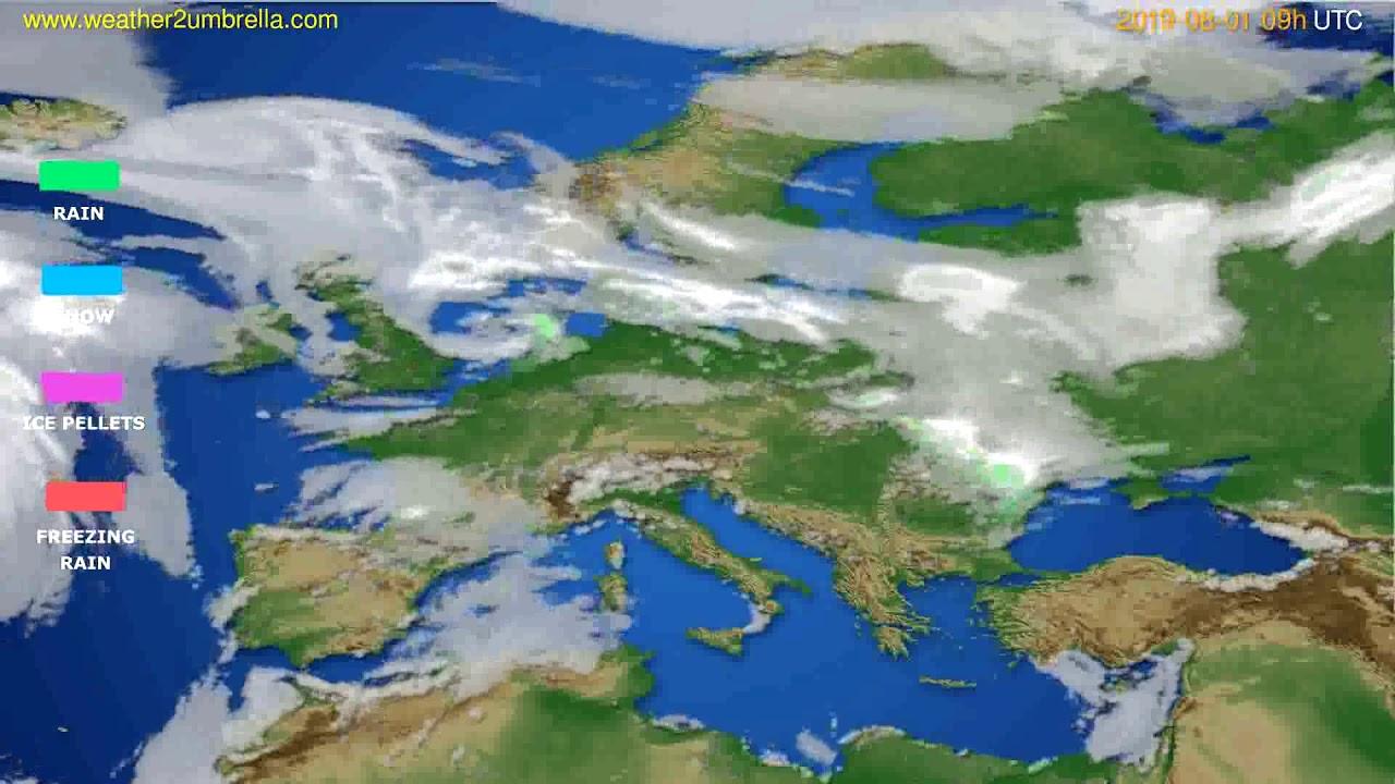 Precipitation forecast Europe // modelrun: 12h UTC 2019-07-30