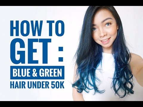 HOW TO GET : BLUE & GREEN OMBRE HAIR UNDER 50K !