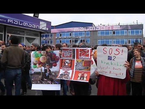 Γεωργία: Διαδηλώσεις υπέρ τηλεοπτικού σταθμού