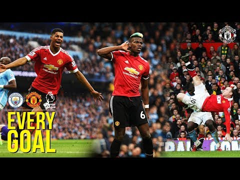 EVERY Manchester United Premier League Goal v Manchester City! | Rooney, Ronaldo, Rashford, Pogba